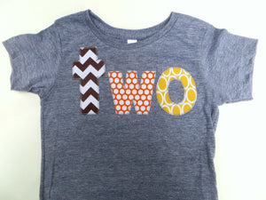 brown chevron orange yellow two grey birthday shirt 2nd Number Fall Pumpkin Thanksgiving Turkey fall kids autumn outfit farm tractor cows