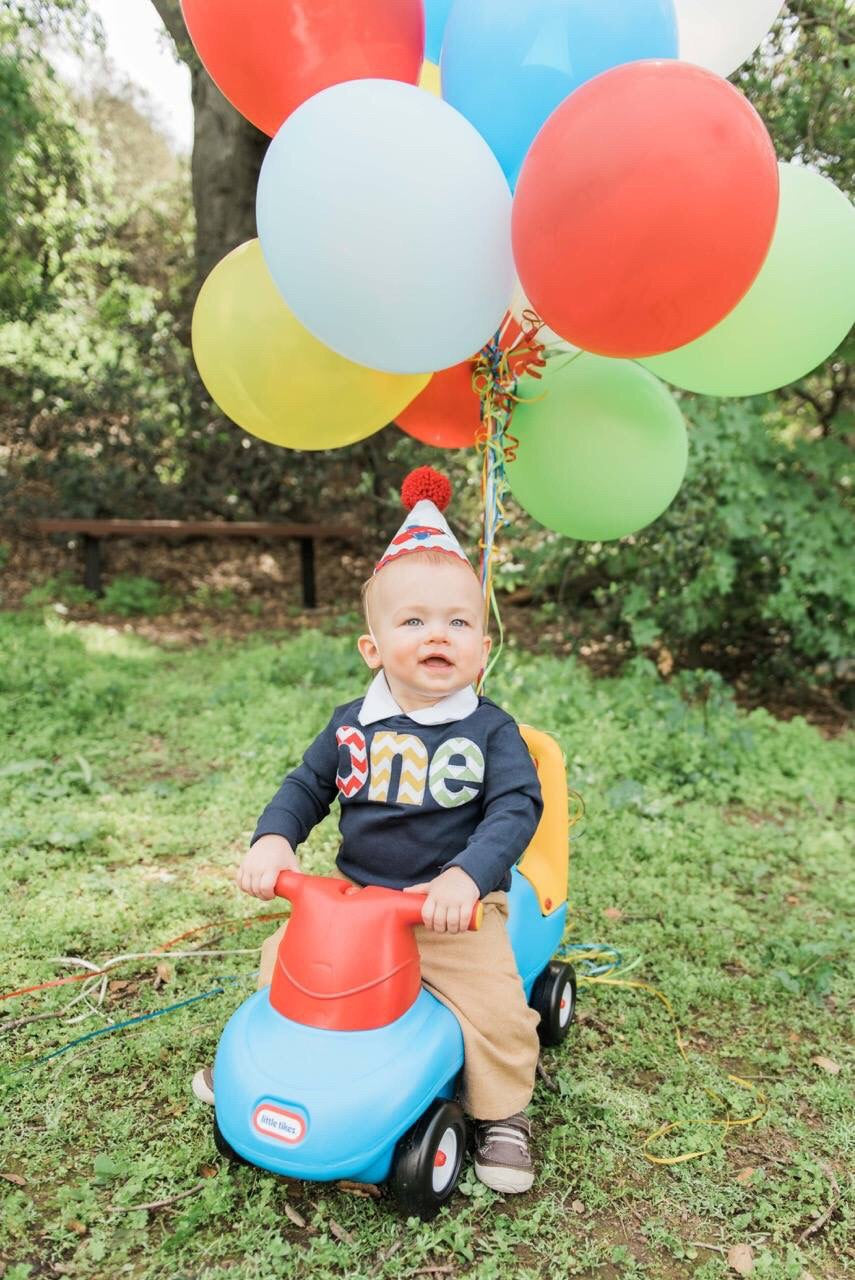 1st Birthday Shirt, kids fall outfit, primary colors chevron, Boy Party, red blue yellow green navy, balloons party theme cake, 1 year old