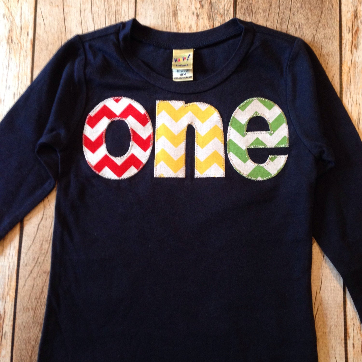 Balloons birthday shirt one 1st Birthday Shirt kids fall outfit primary colors chevron Boy Party red blue yellow green navy balls hot air