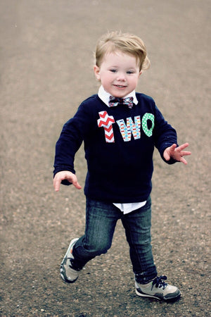 2 Year Old Birthday Shirt Boys Two Long Sleeve Birthday Shirt Navy