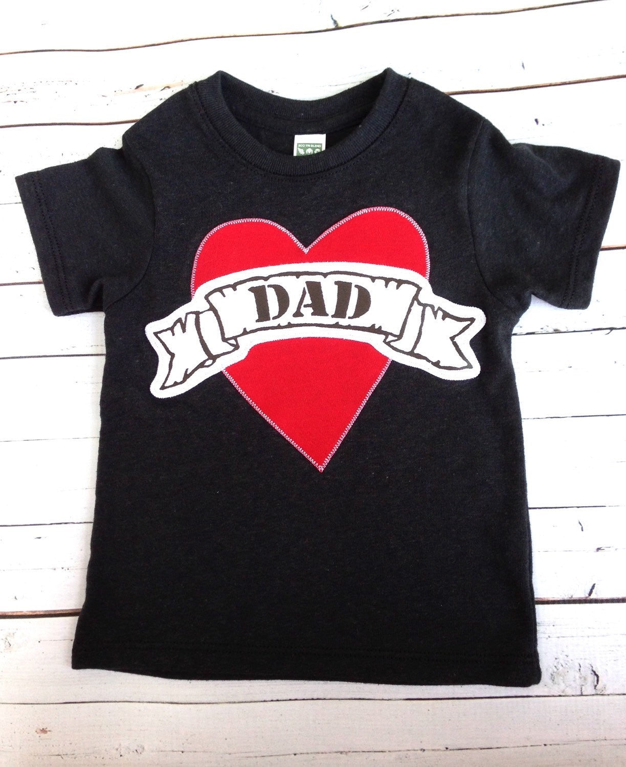 Black Tattoo Heart outfit, Valentine's Day Fathers Day Heart shirt, Dad LOVE, daddy gift, Father's Day