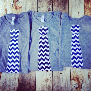 Matching Chevron Tie outfit, Valentine's Day Fathers Day Tie shirt, Dad LOVE, daddy gift, Father's Day