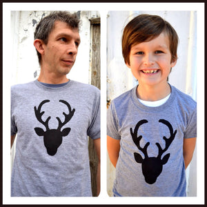 Deer Shirt, Hunter Daddy Top, Father's Day Matching set, Dad Son Outfit, Hunting, Doe, Fawn, Buck