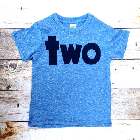 Boys 2nd Birthday shirt two navy two kids birthday theme second party screen print