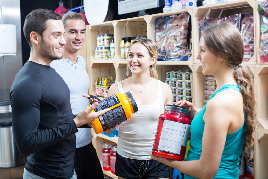 l-citrulline benefits:people choosing supplements in store