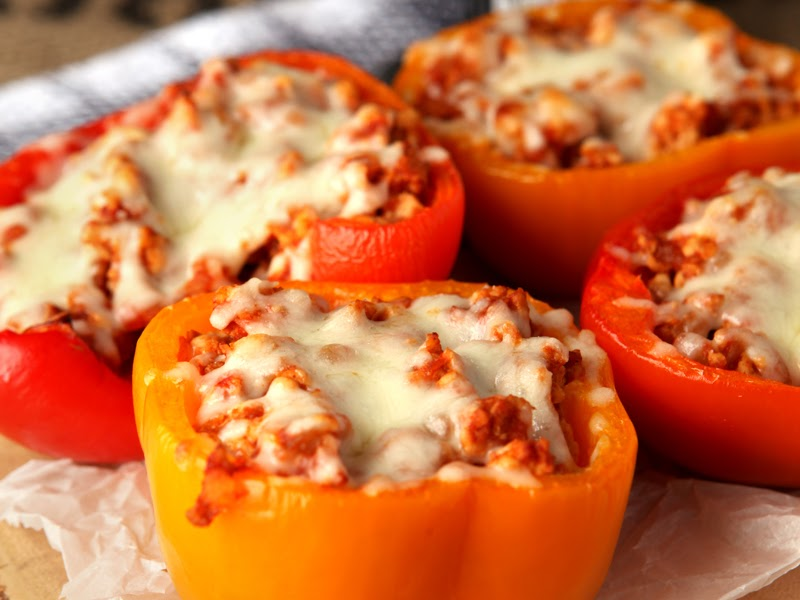 High protein meals: Ground turkey stuffed bell peppers