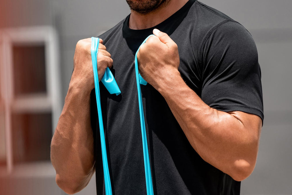 resistance band workouts: Biceps curls