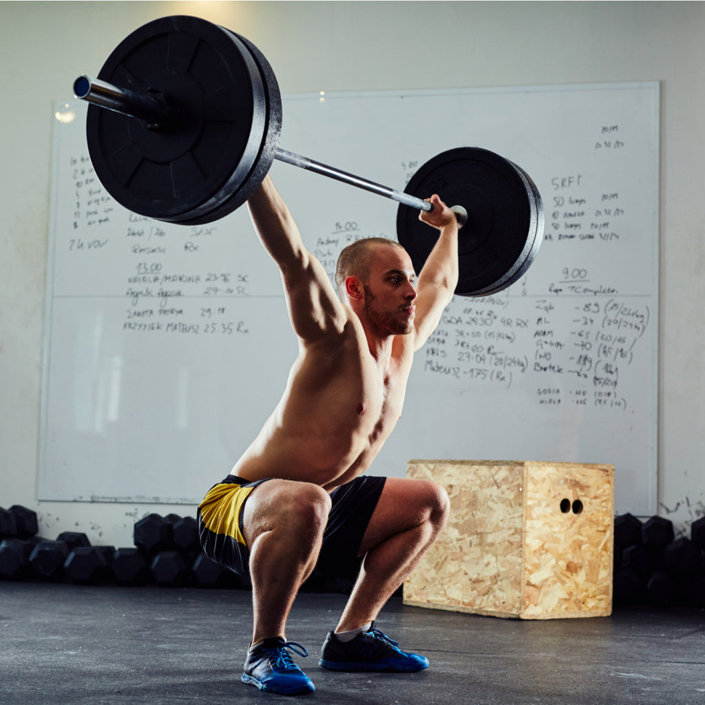 Overhead squat back exercise