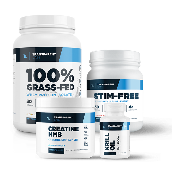 Stimulant Free Muscle Building Essentials Stack Transparent Labs