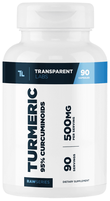 Transparent Labs Turmeric 95% Curcuminoids Capsules 90 Servings