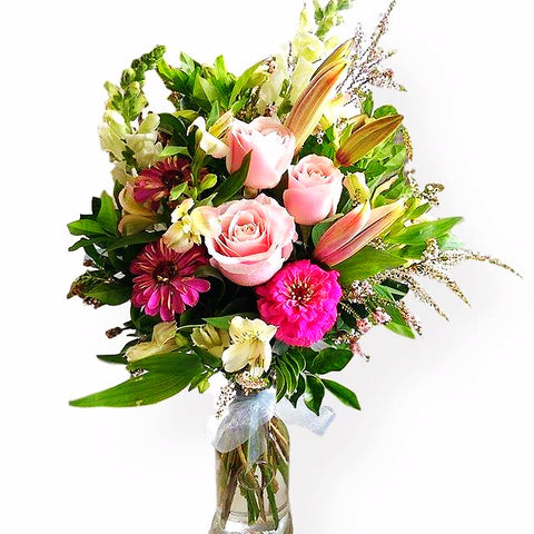 Get soft pretty flowers delivered in brisbane magnolia flowers bright square vase magnolia flowers and gifts mightylinksfo