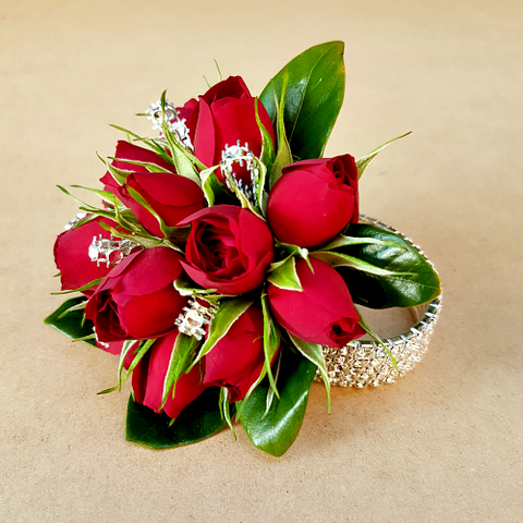 Deluxe Red Rose Wrist Corsage