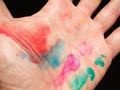 Screen Printing Ink Stains on Hand