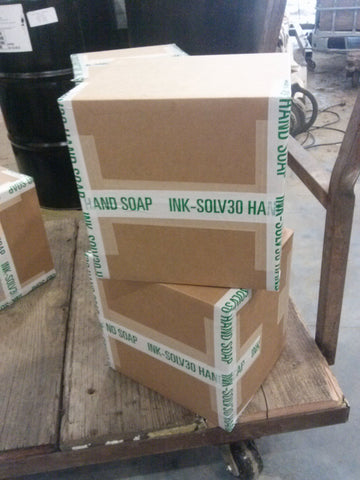2x 25 pound boxes of INK SOLV 30 hand cleaner