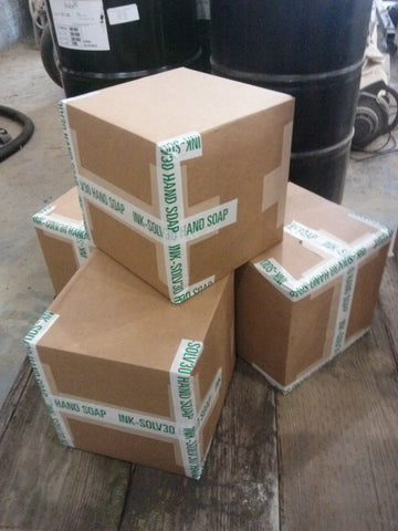 4x 40 pound boxes of INK SOLV 30 hand cleaner