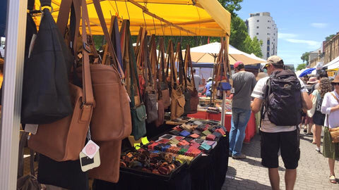 Salamanca Market Stall. Little Armoire is a locally owned business selling  Mens and Women s Leather products e4a550c00734d