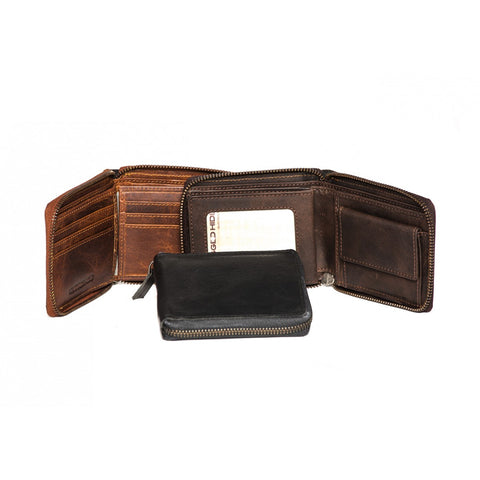 RH-1006 Aris Leather Wallet Zipped around