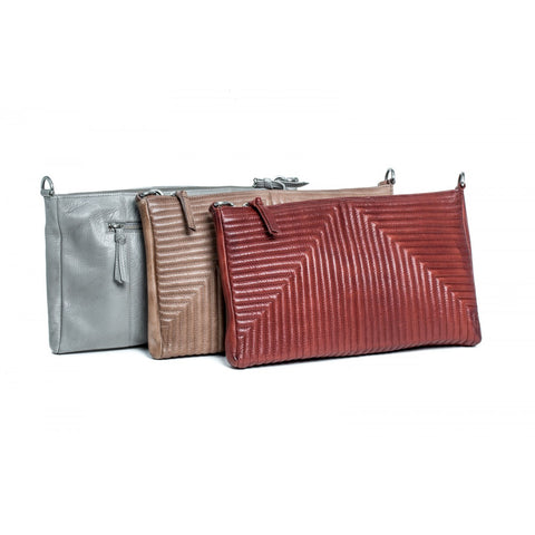 Rugged Hide RH-10959 Annie Quilted Pattern Leather Sling / Clutch Bag
