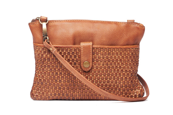 Rugged Hide Harmony RH-2934 Ladies Weave Small Crossbody Leather Bag