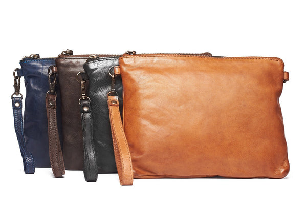 Rugged Hide Victoria RH-41028 Ladies Leather Clutch with long strap