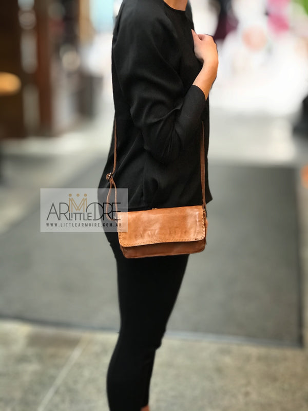 Rugged Hide Georgia RH-36435 Small Ladies Cross Body / Clutch Soft Leather Bag - Little Armoire - Online Leather Goods Store Australia