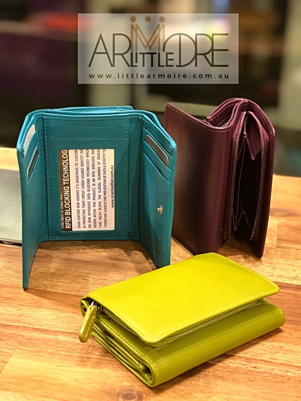 Oran Leather WL-398 Ruby Small Compact Leather Wallet - Little Armoire - Online Leather Goods Store Australia