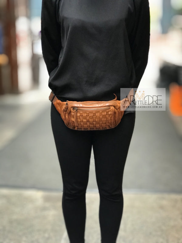 Rugged Hide Vienna RH-36954 Ladies Woven Belt / Bum / Waist Bag - Little Armoire - Online Leather Goods Store Australia