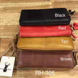 RH-305 Miller Zip around Soft Leather Wallet