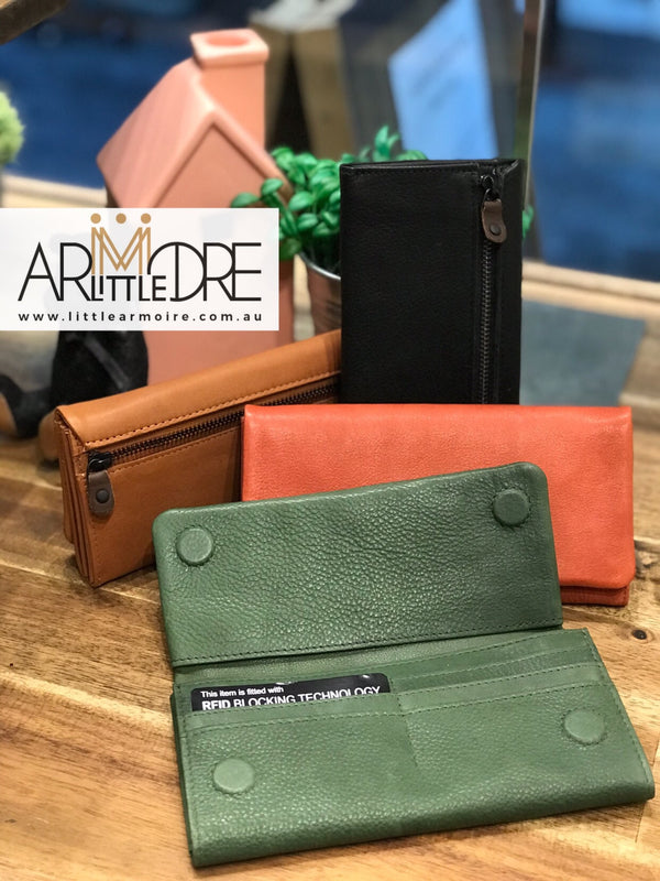 Rugged Hide RH-3019 Scarlett Soft Slim Leather Wallet - Little Armoire - Online Leather Goods Store Australia