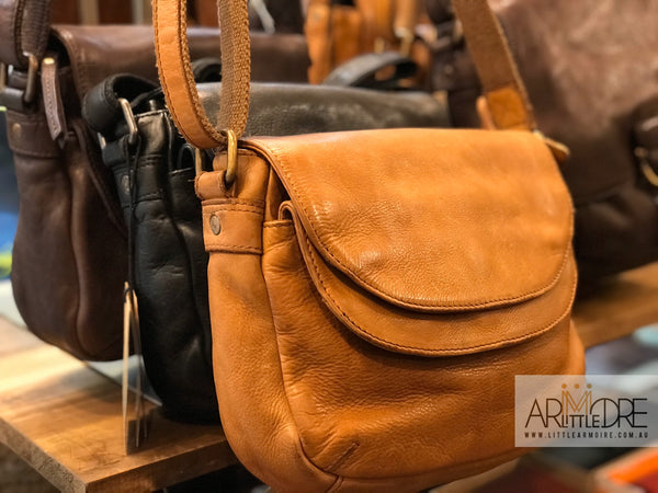 Rugged Hide Astrid RH-10082 Ladies Double Flap Crossbody Leather Bag