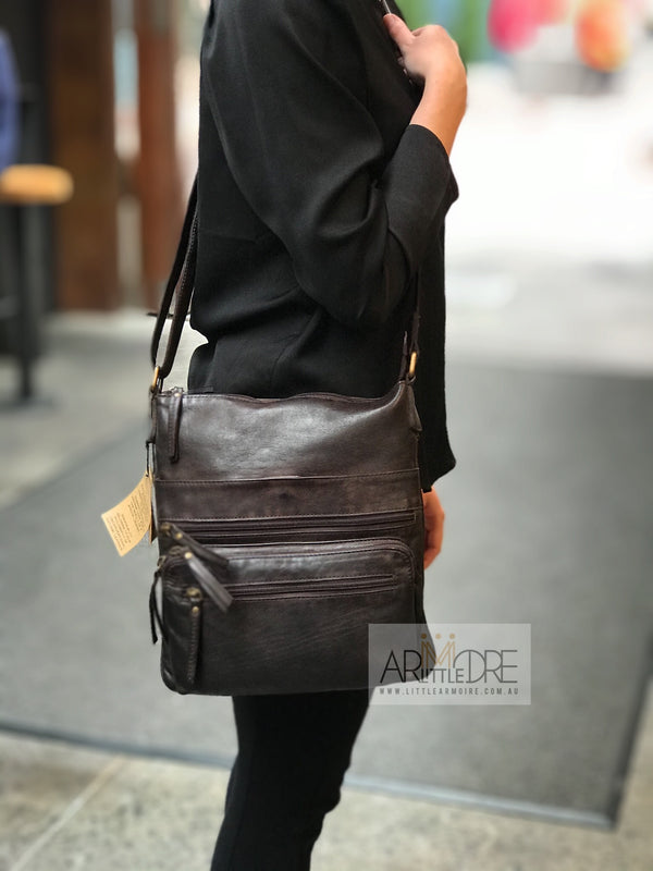 Rugged Hide Carmel RH-5001 Soft Leather Ladies Cross Body Bag - Little Armoire - Online Leather Goods Store Australia