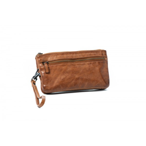 Rugged Hide Beverley RH-16039 Slim Leather Clutch Pouch with detachable Wrist Strap