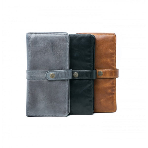Rugged Hide RH-15086 Robyn Soft Leather Wallet with Press Stud - Little Armoire - Online Leather Goods Store Australia