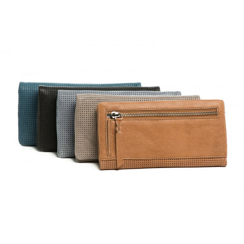 Rugged Hide RH-2274 Samantha Soft Leather Perforated Detail wallet.