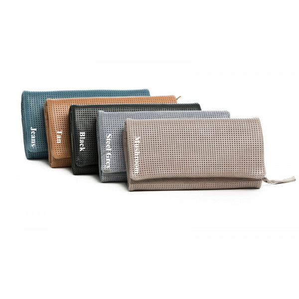 Rugged Hide RH-2277 Simmone Soft Leather Perforated Detail wallet.