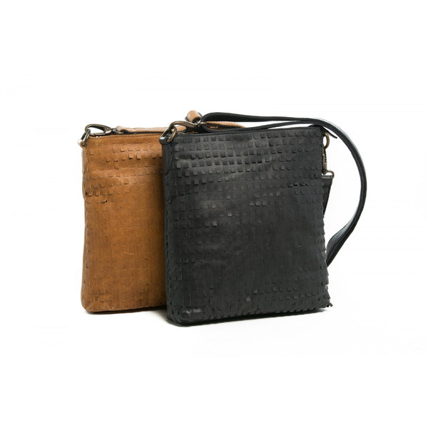 Rugged Hide RH-3830 Echo Cross Body Leather Bag with Laser Cut Scales