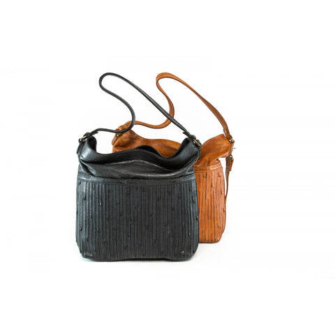 Rugged Hide RH-7004 Rabat textured detail Leather Shopper bag