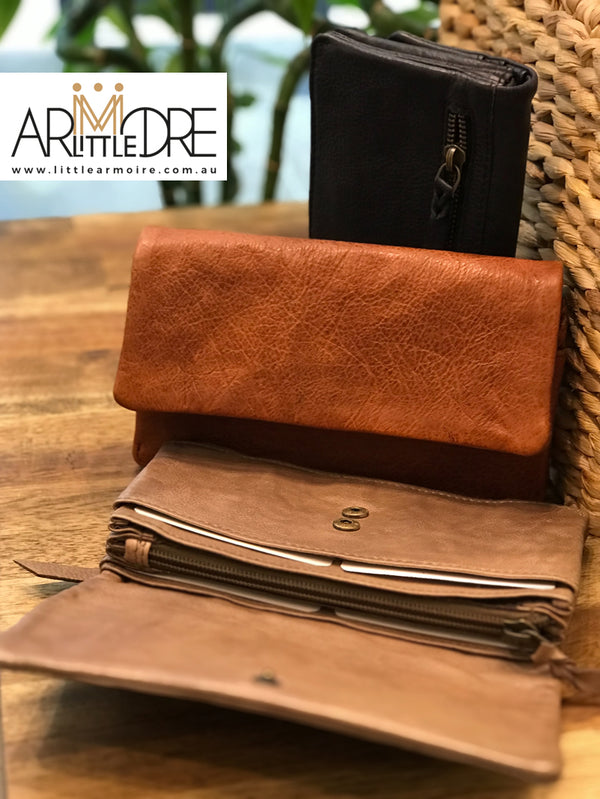 Rugged Hide RH-7379 Cali Soft Leather ladies wallet with press stud - Little Armoire - Online Leather Goods Store Australia