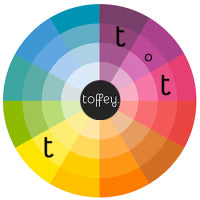 toffey split complimentary colour wheel