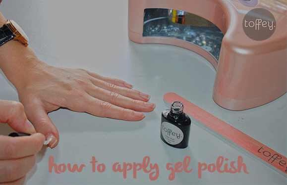 how to apply gel polish manicure