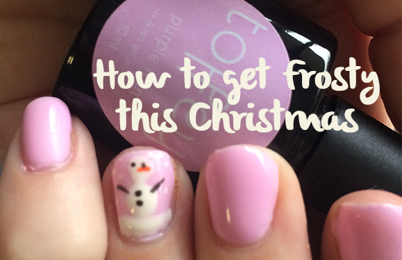 How to design a snowman on your gel nails