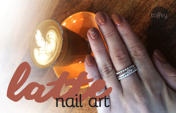 Toffey Latte-Nail-Art