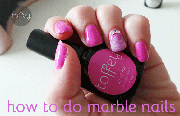 How to apply marble nails with gel polish