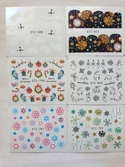 XMAS  - Water transfer decals #2