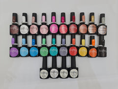 Get Started colour collection 20 colours with base, top, matte top coat and Foil transfer gel