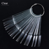 40pcs Stiletto nail swatch with metal ring
