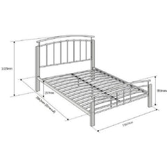 TIME LIVING Black and Beech Tetras Bed Frame