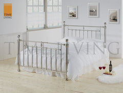 TIME LIVING Alexander Chrome Metal Bed Frame