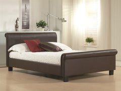 TIME LIVING Aurora Brown Faux Leather Bed