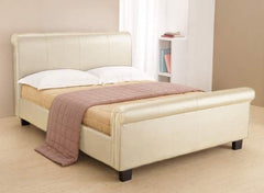 TIME LIVING Aurora Cream Faux Leather Bed